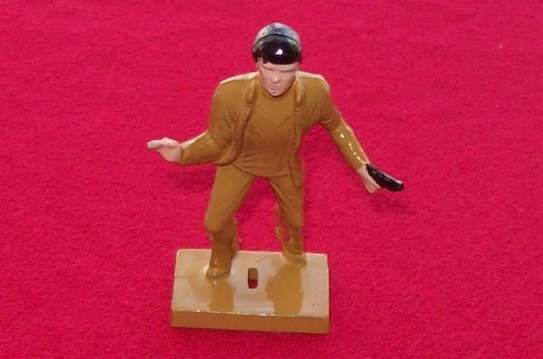CORGI TOYS 342 Professionals plastic figure fully painted, Bodie - tan